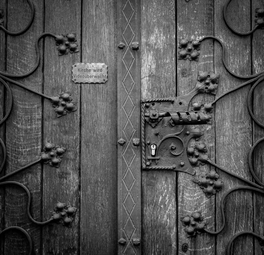 Door with intricate details