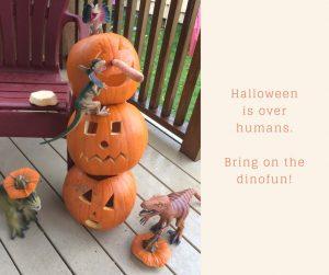 dinovember pumpkin snowman